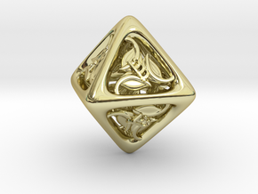 Tengwar Elvish D8 in 18K Gold Plated