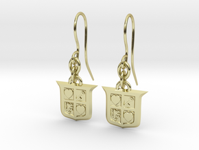 Legend of Zelda Inspired Earrings With Hooks in 18K Gold Plated