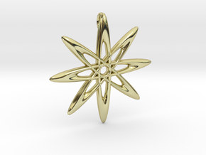 Atomic Pendant in 18K Gold Plated