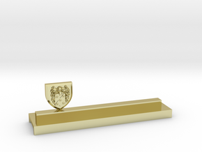 Knife holder with shield and coat of arms in 18K Gold Plated
