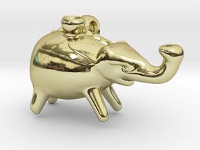 Roman Elephant Pendant (Askos) in 18K Gold Plated