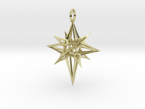 Christmas 3D Star in 18K Gold Plated