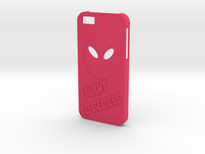 Iphone 5/5s Case Alien in Pink Strong & Flexible Polished