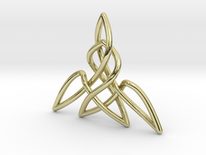 Triquetra Pendant 2 in 18K Gold Plated
