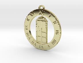 TARDIS (Flat) - Pendant in 18K Gold Plated