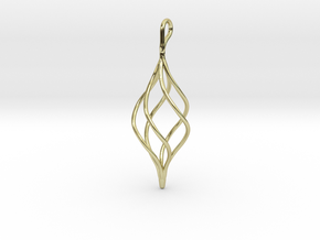 Helical Basket Pendant in 18K Gold Plated