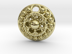 Mandala Pendant 4 in 18K Gold Plated