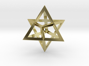 Double Tetrahedron, Merkabah in 18K Gold Plated