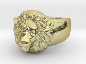 Lion Ring (size11) in 18K Gold Plated