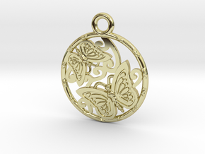 Duo butterfly in 18K Gold Plated
