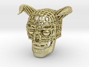 Skull of Devil in 18K Gold Plated