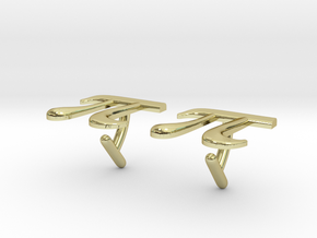 Pi Cufflinks in 18K Gold Plated
