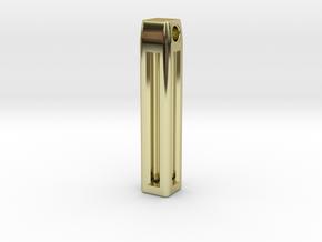 Minimalistic Tritium Pendant in 18K Gold Plated