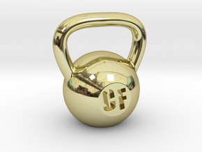 Crossfit Kettlebell Weight Pendant and Keychain in 18K Gold Plated