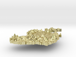Ireland Terrain Silver Pendant in 18K Gold Plated