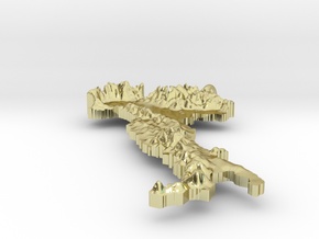 Italy Terrain Silver Pendant in 18K Gold Plated