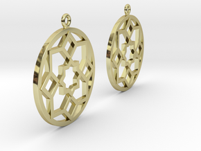 Boucles d'oreilles inspiration Maroc in Fine Detail Polished Silver