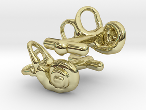 Inner Ear Cufflinks (Pair) in 18K Gold Plated