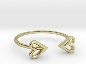FLYHIGH: Open Heart Skinny Bracelet in 18K Gold Plated
