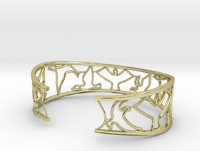 Birds Silhouette Bracelet (large) in 18K Gold Plated