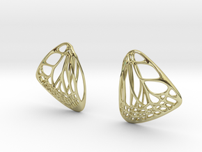 Butterfly Earrings (S) Plastic in 18K Gold Plated