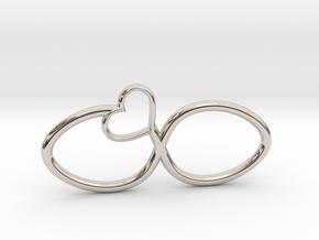 Eternal Heart Pendant in Rhodium Plated Brass