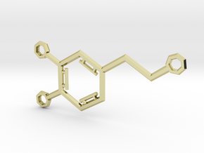 Small Dopamine Molecule in 18K Gold Plated