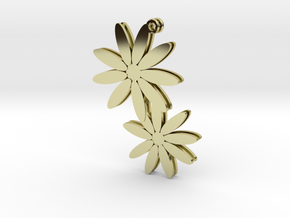 Daisy earrings - 1 pair in 18K Gold Plated