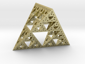 Geometric Sierpinski Tetrahedron level 4 in 18K Gold Plated