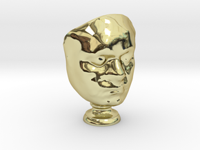 Beethoven's Life Mask [6cm] Hollow in 18K Gold Plated