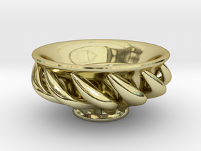 """Spiral """"Guinomi"""" Cup-01 in 18K Gold Plated"""