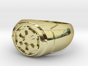Imperial Signet Ring in 18K Gold Plated