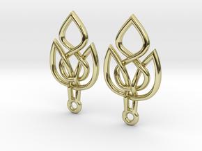 Celtic Knot Leaf Earrings in 18K Gold Plated