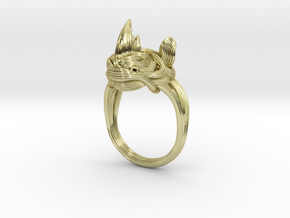 Rhinoceros Ring  in 18k Gold Plated Brass: 7.5 / 55.5