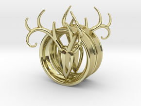 2 Inch Antler Tunnels in 18K Gold Plated