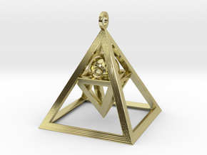 Sight of Pyramid Pendant in 18K Gold Plated