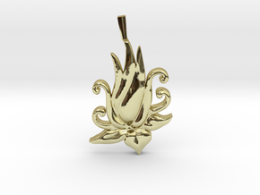 Lotus Bloom Charm in 18K Gold Plated