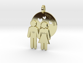 Wedding Present Pendant husband and wife in 18K Gold Plated