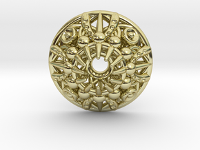 Mandala Pendant in 18K Gold Plated