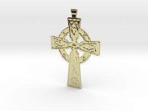 Celtic Cross Pendant in 18K Gold Plated