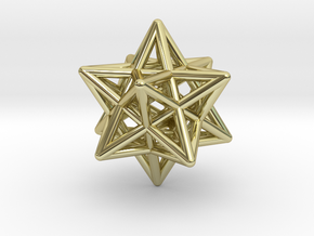 Stellated Dodecahedron Pendant in 18K Gold Plated