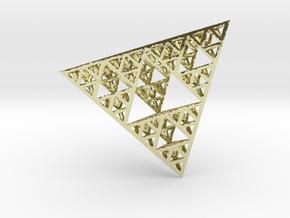 Sierpinski Tetrahedron in 18K Gold Plated