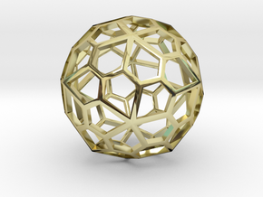 Polyhedral Pendant in 18K Gold Plated