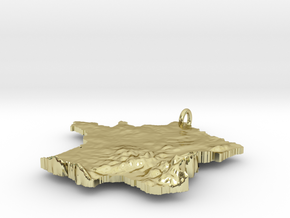 France Terrain Silver Pendant in 18K Gold Plated
