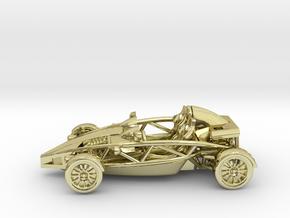 "Atom HO scale model w/o wings 1.6"" LHD in 18K Gold Plated"