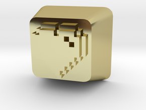 8 Bit Heart Cherry MX Keycap in 18K Gold Plated