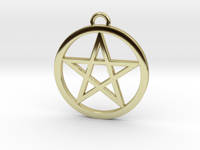 Pentacle Pendant 4cm in 18K Gold Plated