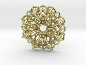 Mandala Flow Pendant in 18K Gold Plated