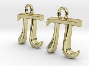 Pi Earrings in 18K Gold Plated