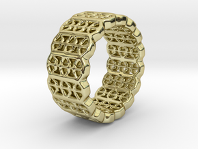 Grid Ring - EU Size 58 in 18K Gold Plated